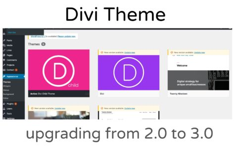upgrading divi from 2.0 to 3.0